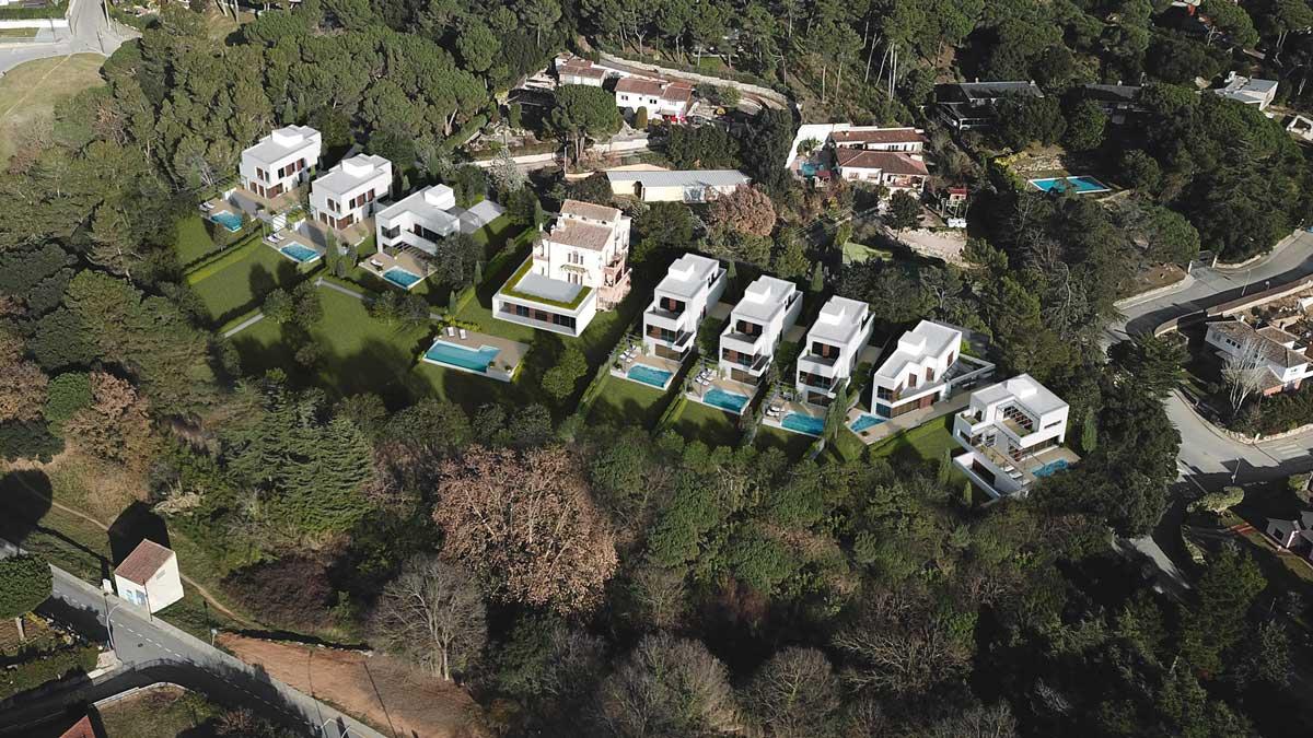 Fotointegración de conjunto de viviendas unifamiliares