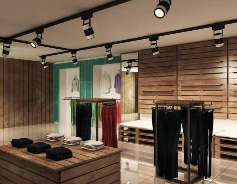 Renders de la Tienda de moda I Do en Barcelona