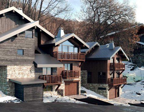 Renders de casas de madera en Andorra