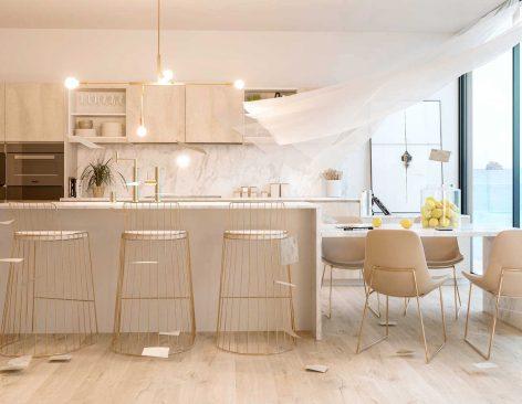 Renders para Catálogos de cocinas de lujo minimalistas