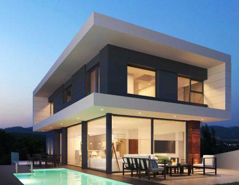 Renders interiores de viviendas unifamiliares