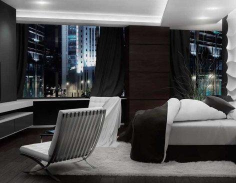 Renders habitación de hotel en Londres