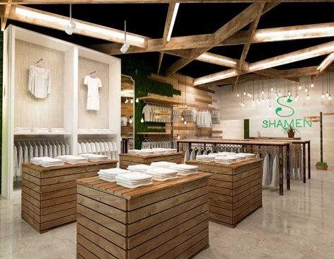 Infografías 3D Tienda de ropa Shamen. Sant Boi de Llobregat