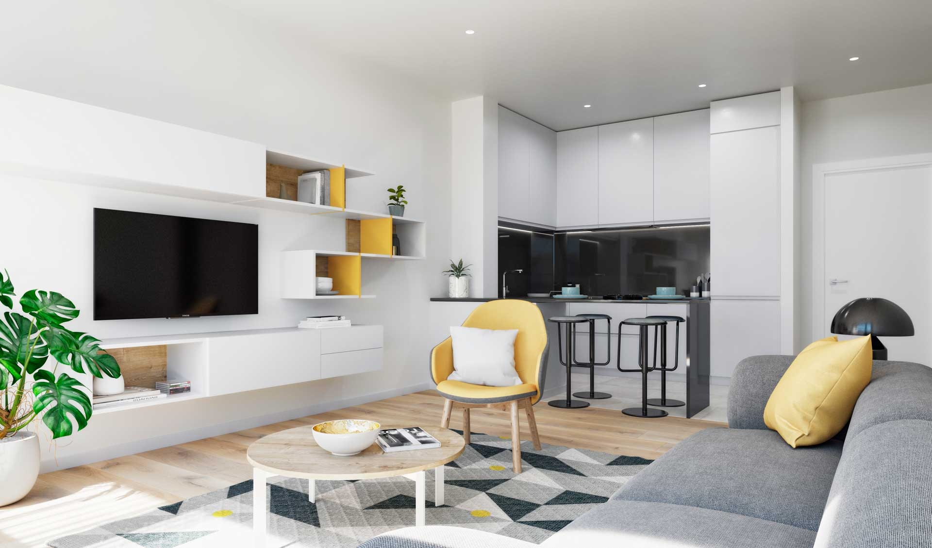 Renders interiores para Real Estate