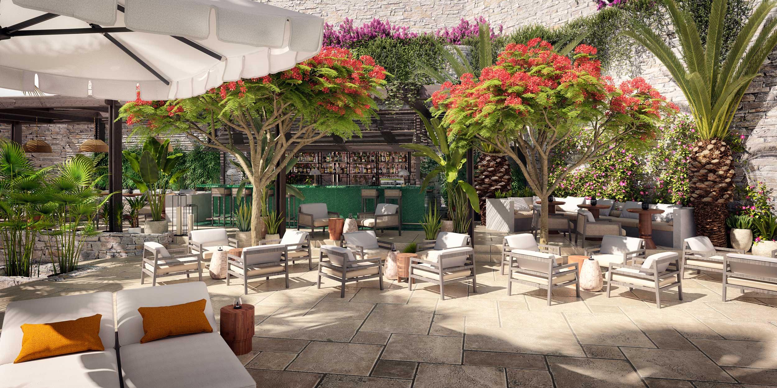 terraza restaurante resort en londres